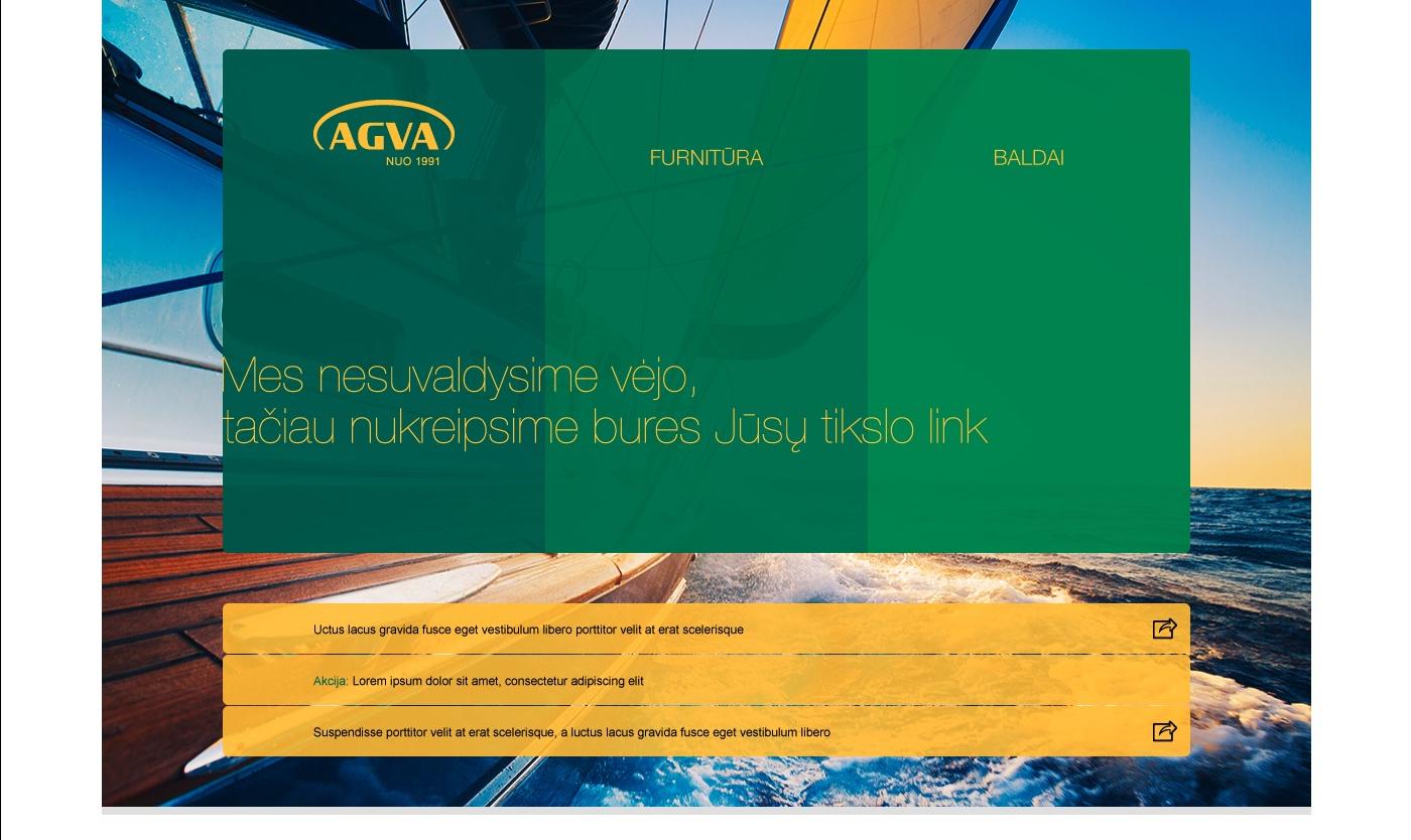 Interneto svetainė AGVA